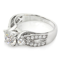 Split Shoulder With Gallery Diamond Engagement Ring