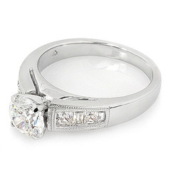 Mini-Cathedral Diamond Engagement Ring
