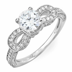 Pear Drop Shoulders Diamond Engagement Ring